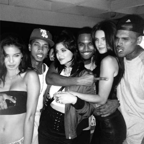 Guest-and-Tyga-and-Kylie-Jenner-and-Trey-Songz-and-Kendall-Jenner-and-Chris-Brown-at-Chris-Browns-House-Party