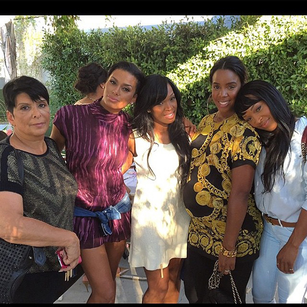 Kelly-Rowland-The-Haqq-Twins-and-Laura-Govan-at-Lance-Gross-and-Fiances-Baby-Shower