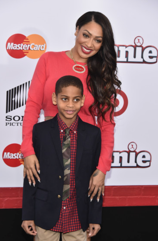 LaLa Anthony and her son KiYan #Annie Movie Premiere -WESTPOPPN.COM
