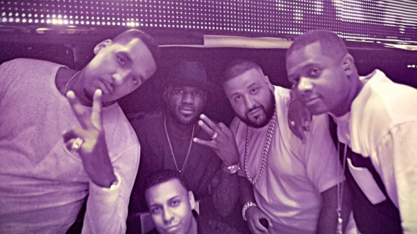 Dj Nasty, Lebron James, Dj khaled & friends @ TAO las vegas -WESTPOPPN.COM