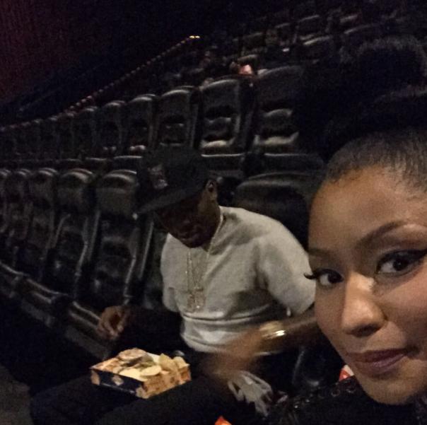 meek mills & Nicki Minaj rents out entire movie theatre _WESTPOPPN.COM