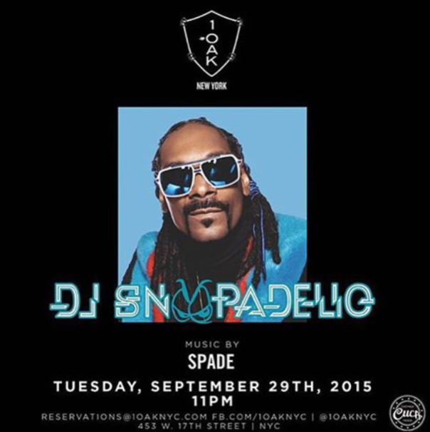 Snoop dogg at 1OAK-NYC