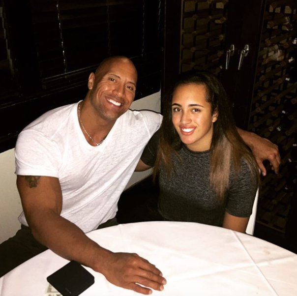 The Rock with his daughter Simone -WESTPOPPN.COM