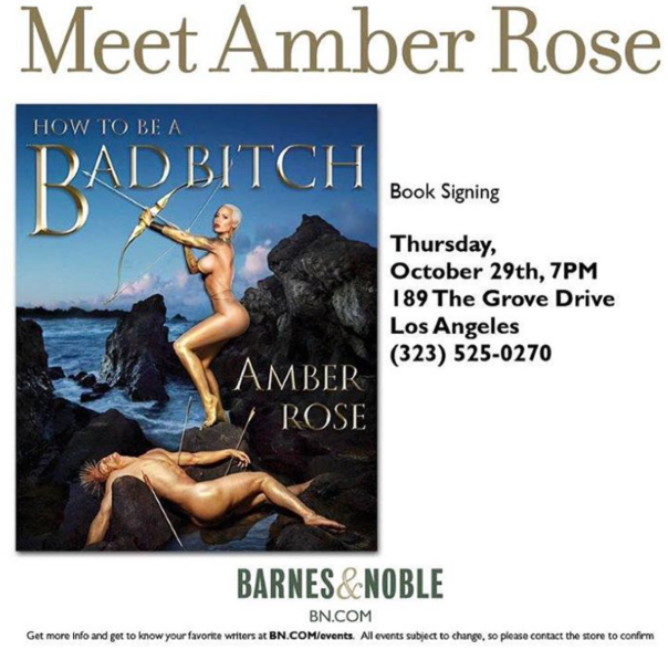 Meet Amber Rose-Book Signing -Barnes&Noble