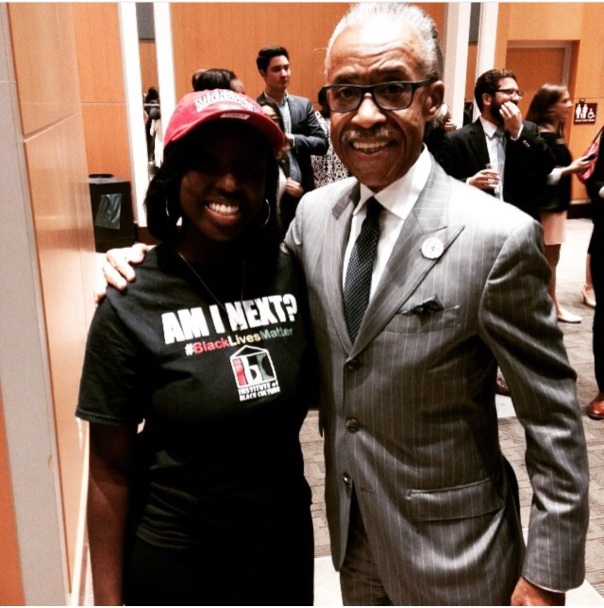 Al Sharpton with campus activist leader ASHLEY at Florida state university Westpoppn.com