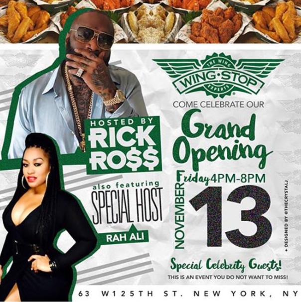 RICK ROSS & RAH ALI grand opening @ wing.stop WESTPOPPN.COM