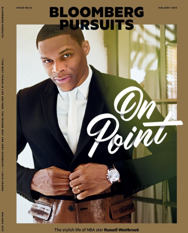 russell westbrook on Bloomberg Pursuits 2015 cover -westpoppn.com