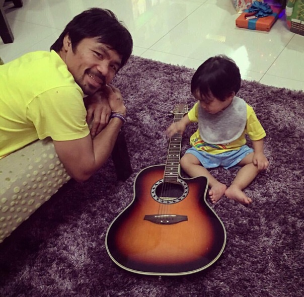 Manny pacquiao & son