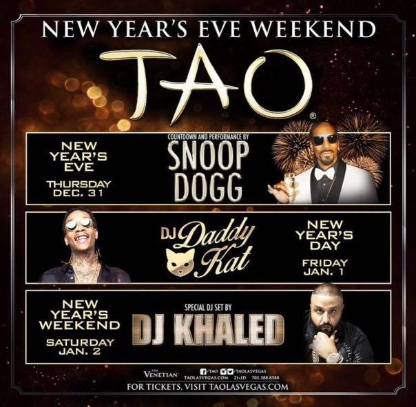 TAO New Years party with SnoopDogg,Dj KHALED,wiz Khalifa,