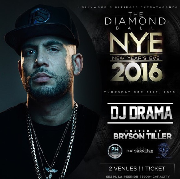 DJ Drama hosting for New Years in Hollywood