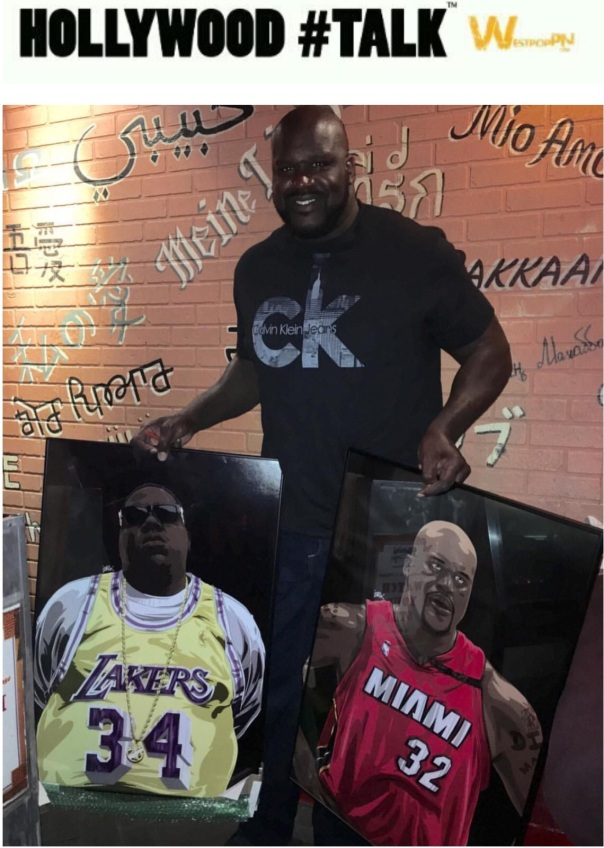 Shaq gets some dope art work by Mc Flyy - Westpoppn.com