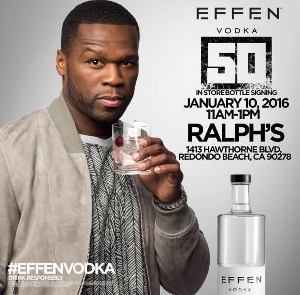 Rapper 50 cent @ Ralphs