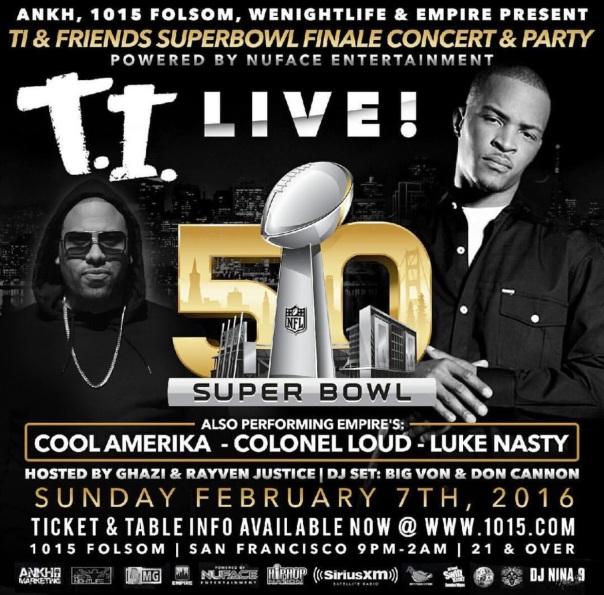 T.i. Live - 50 Super bowl party- Westpoppn.com