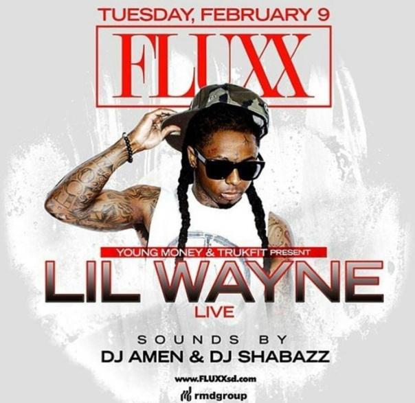 Lil Wayne at club Fluxx - Westpoppn.com