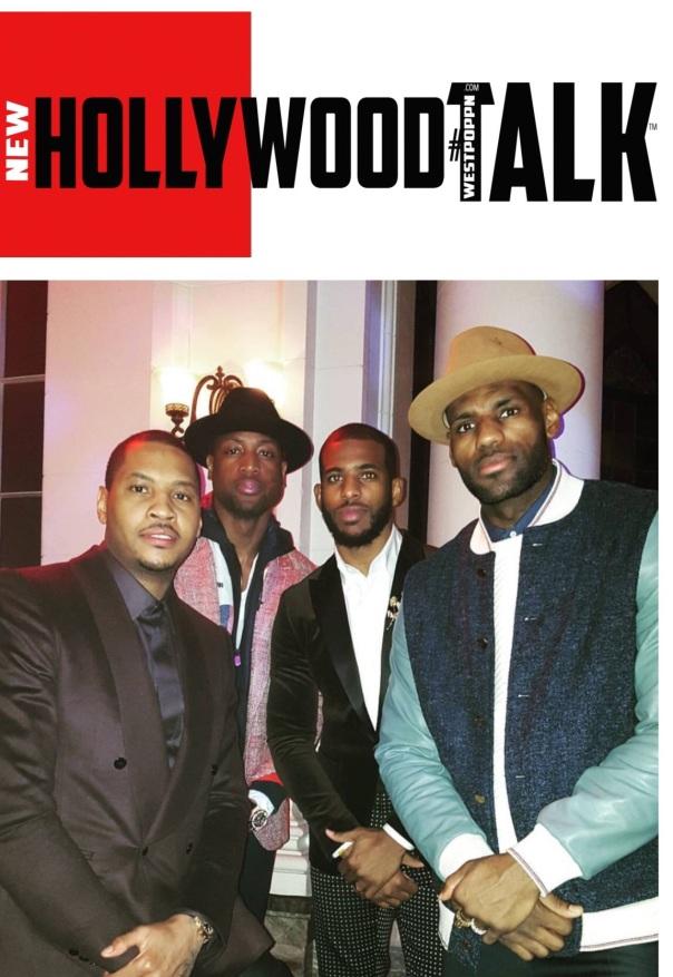 Chris Paul,Dwayne wade,Carmelo anthony,Lebron james WESTPOPPN.com