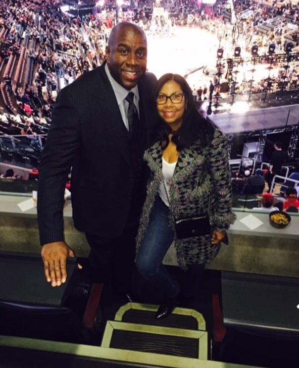 Magic johnson & cookie #WestPoppn.com #NBAweekend2016