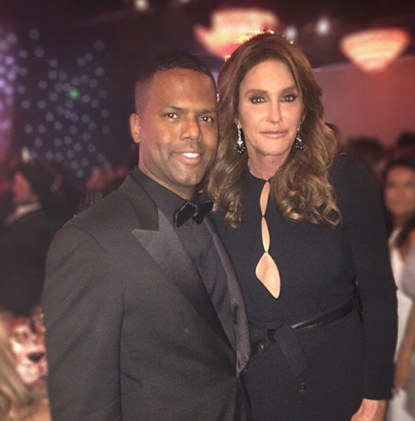 Clive Davis Grammy party - AJ Calloway & catlyn Jenner -Westpoppn.com
