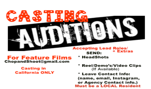 CASTING AUDITIONS :Actors-Actresses