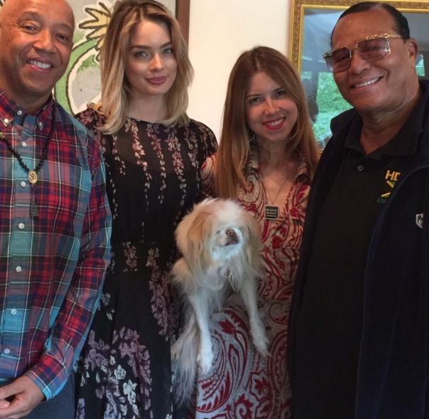 RussellSimmons & girlfriend + louis Farrakhan - Westpoppn.com
