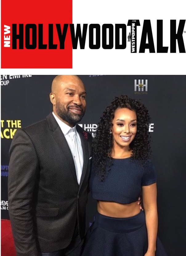 Derrick fisher & Gloria Govan at #Meettheblackspremiere - Westpoppn.com