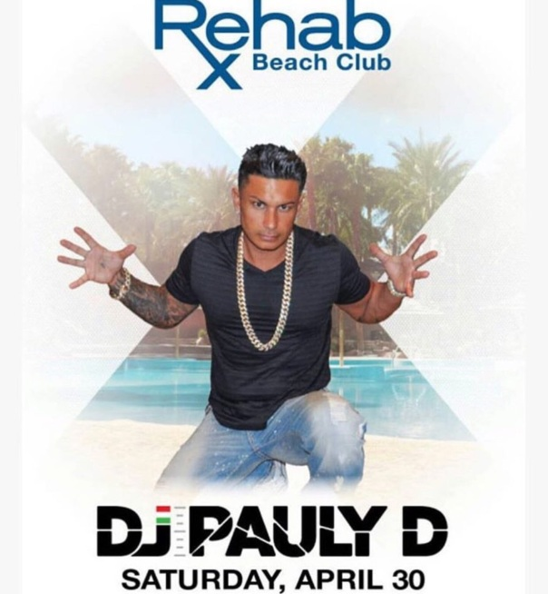 DJ PAULY D live in Las Vegas at the rehab beach club - Westpoppn.com