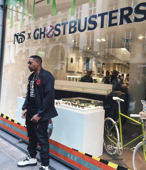 Nas - ghostbusters in stores now - Westpoppn.com