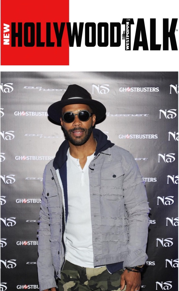 Omari Hardwick / Nas ghostbusters release launch- Westpoppn.con