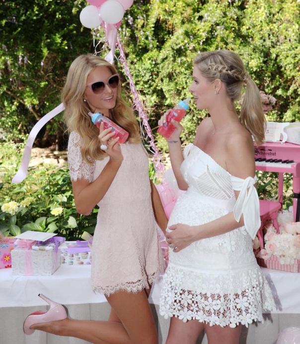 Paris Hilton is now an Auntie - Nicky Hilton Rothschild baby shower - Westpoppn.com