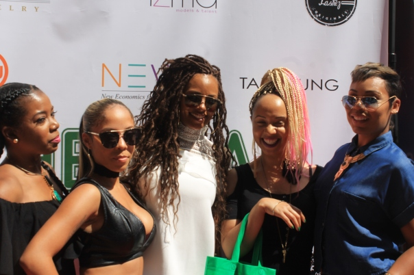 Naturally BET Weekend beauty lounge -La'Myia Good,skye griffin, Eva Marcille, jasmin brand -westpoppn.com