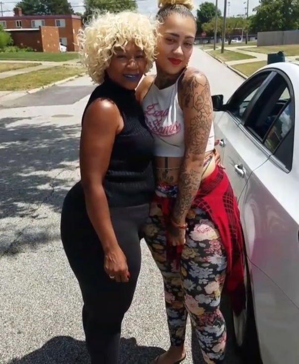Donna from #BlackInk Tattoo with her mom - Westpoppn.com