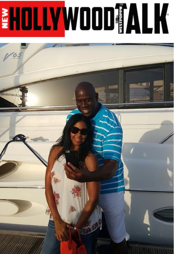 Magic Johnson and cookie in France- Westpoppn.com