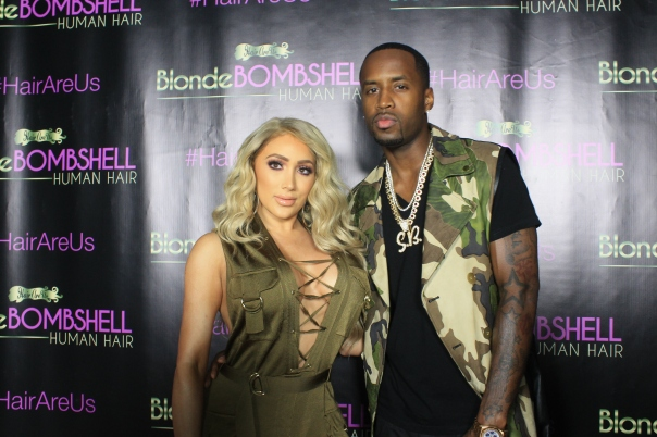 NikkiiBaby and Safaree #HairRus BlondeBombshell Hair Launch -WESTPOPPN.COM