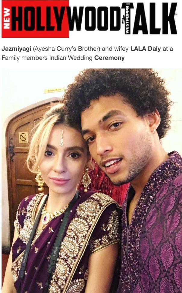 Jazmiyagi and wifey LALA Daly - Westpoppn.com (indianwedding)