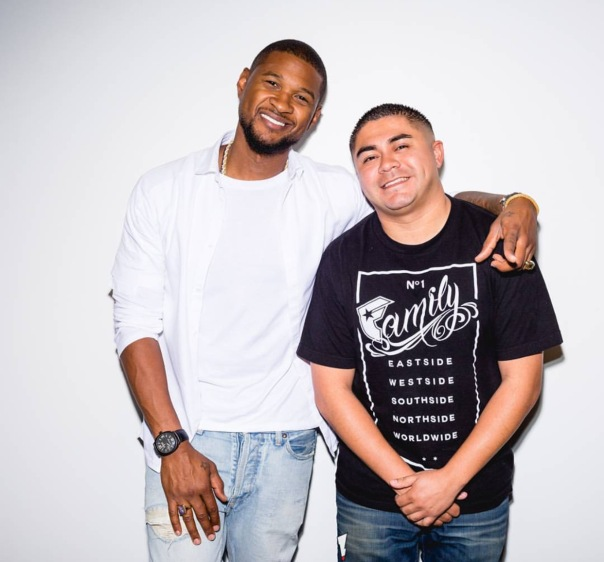 Usher and real Louie g from 92.3 - Westpoppn.com