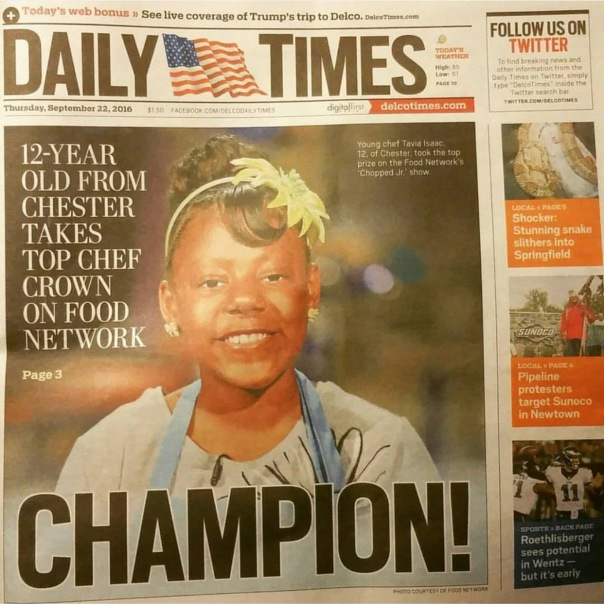12 years old chef kid from chestnut - hits the news - Westpoppn.com