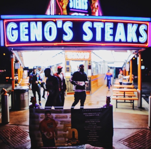 Rapper game hits up Geno's up in Philly - meek mills home town - Westpoppn.com