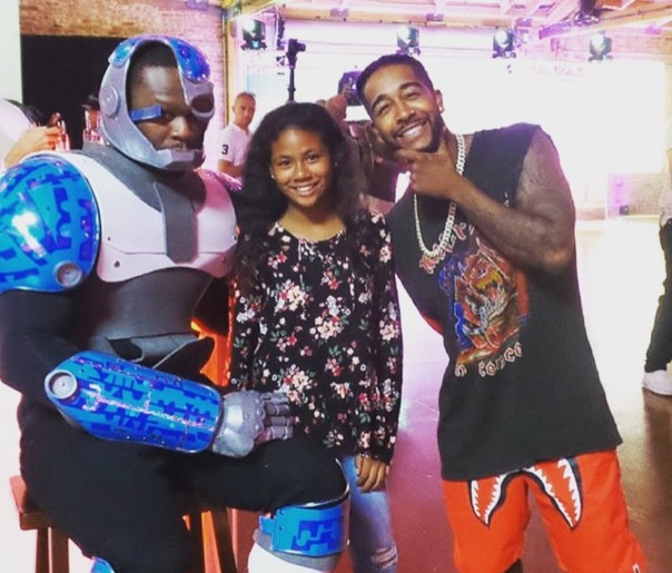 50 cent at his sons birthday party , with omarion - WESTPOPPN.COM