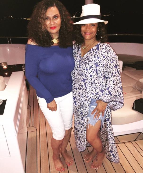 Beyonce's mom Tina Lawson & ll cool J's wife Simone I. Smith - MagicJohnson & Cookie 25th Anniversary - Westpoppn.com