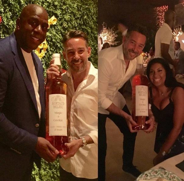 magic johnson & Cookie's 25th anniversary -WESTPOPPN.COM (magic Johnson gets custom wine bottle)