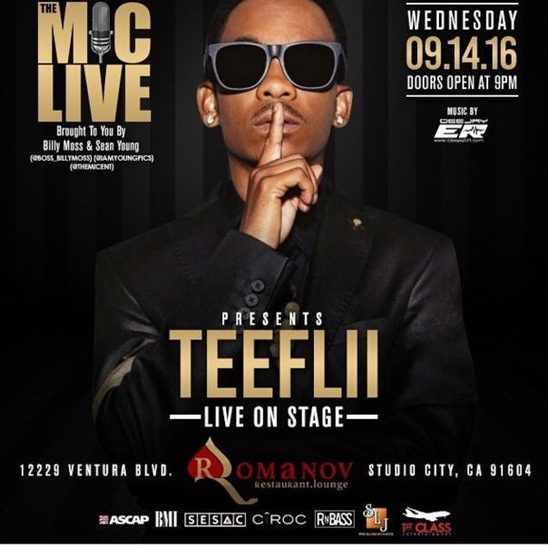 TEEFLII performing at The #MicLive in Studio City,CA - WESTPOPPN.com