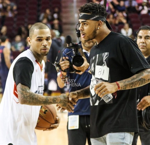 Chris brown & DLoading - Westpoppn.com - Celebrity charity basketball game with Power 106