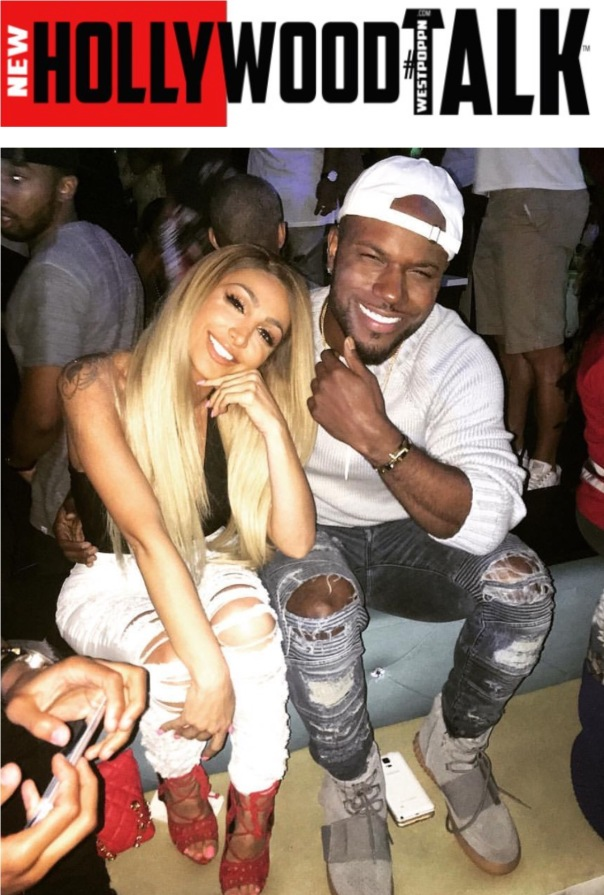 Angel Brinks and Milan Christopher @ Rob & Blac Chyna's Viewing Party - WESTPOPPN.com