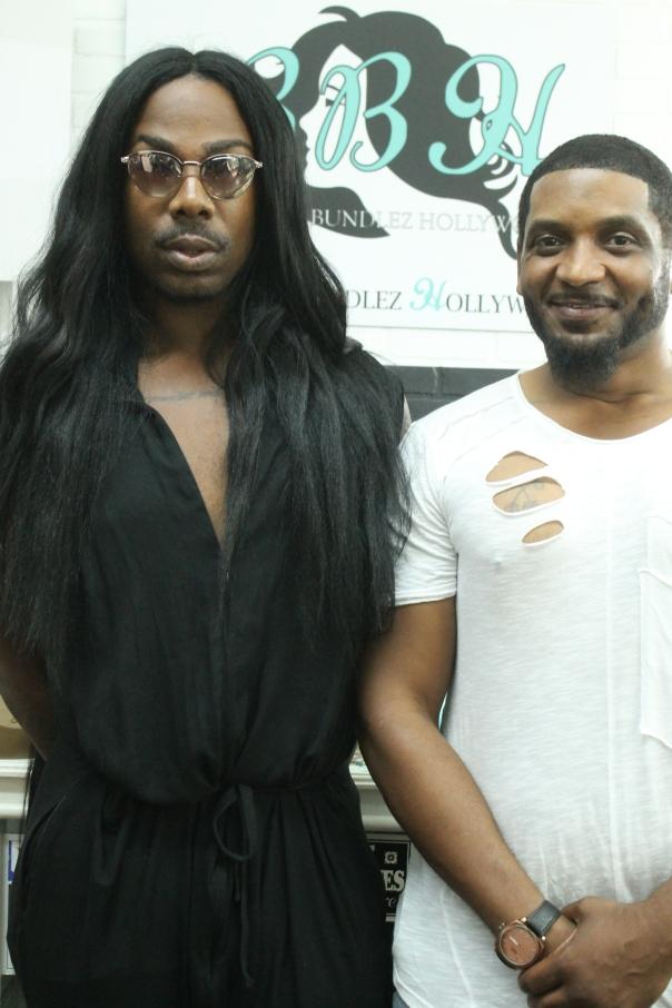 EJ king and Anthony Cherry - #BeautifulBundelzHollywood Hair Launch -WESTPOPPN.COM