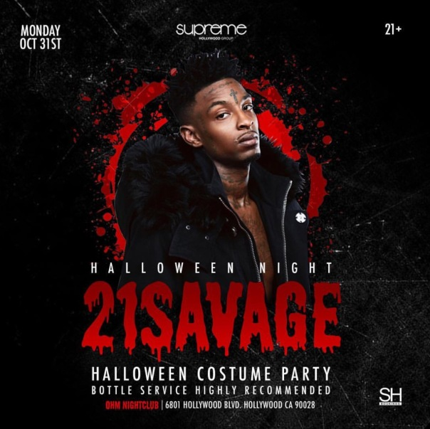 Ohm club 21Savage performing #Halloween2016 - Westpoppn.com