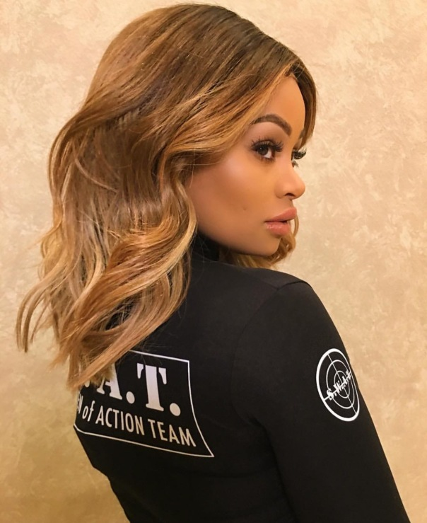 Blac Chyna in her swat team outfit -WESTPOPPN.com