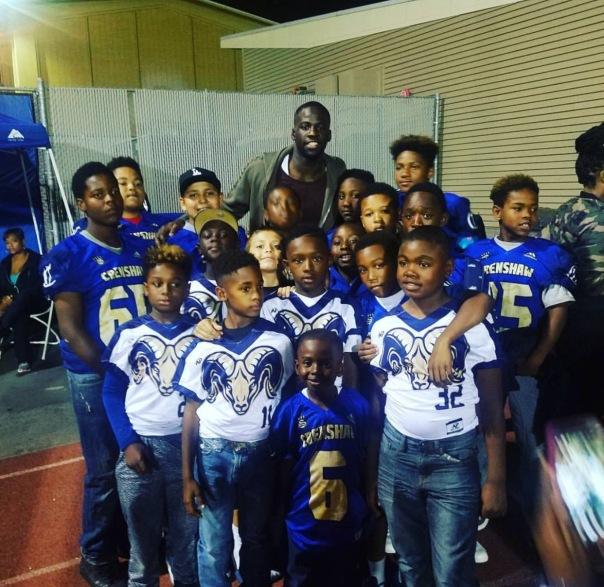 Crenshaw Rams with Draymond Green - WESTPOPPN.com