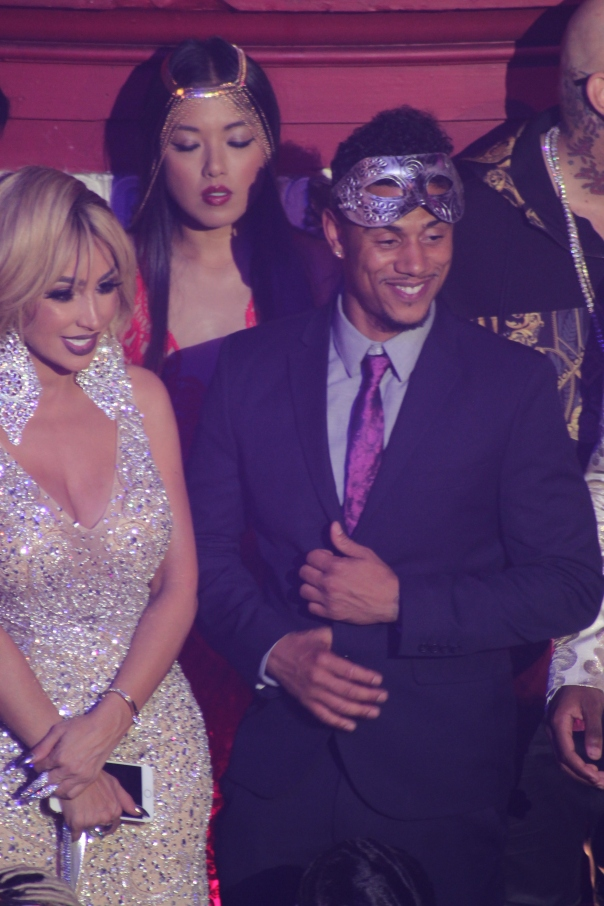 Angel Brinks & LiL FIZZ - BTS with Nick cannon at his bday Masquerade Ball with VH1 - WESTPOPPN.COM