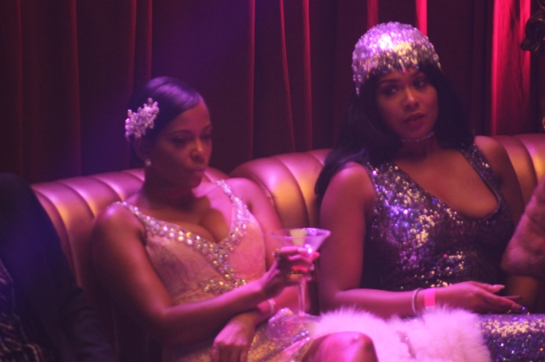 Sundy, Althea Heart, - BTS with Nick cannon at his bday Masquerade Ball with VH1 - WESTPOPPN.COM