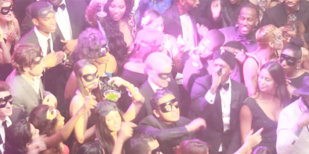 BTS with Nick cannon at his bday Masquerade Ball with VH1 - WESTPOPPN.COM