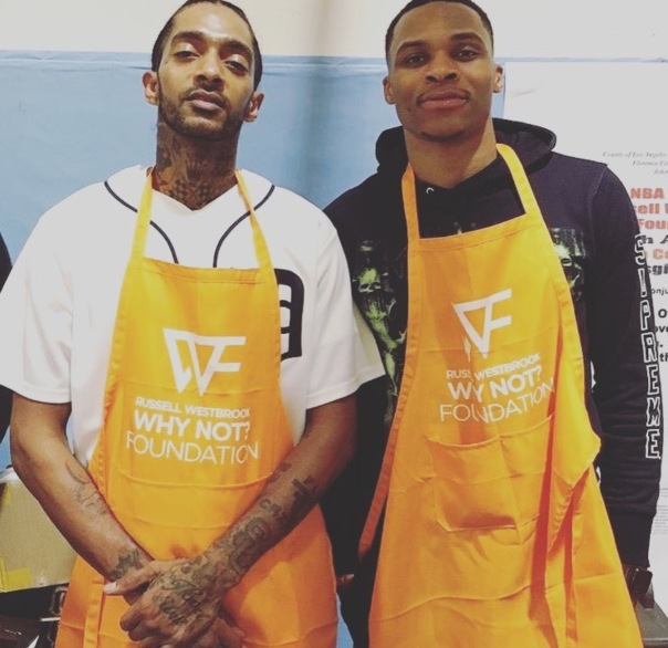 Russell Westbrook at the why not foundation - Westpoppn.com